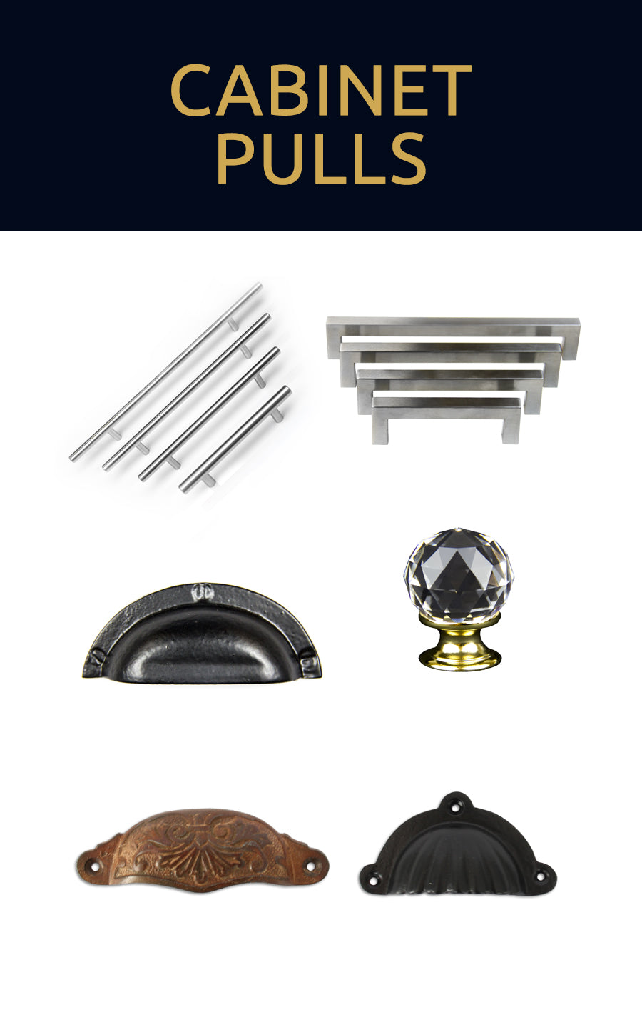 Browse our cabinet pulls collection for decorating cabinet doors