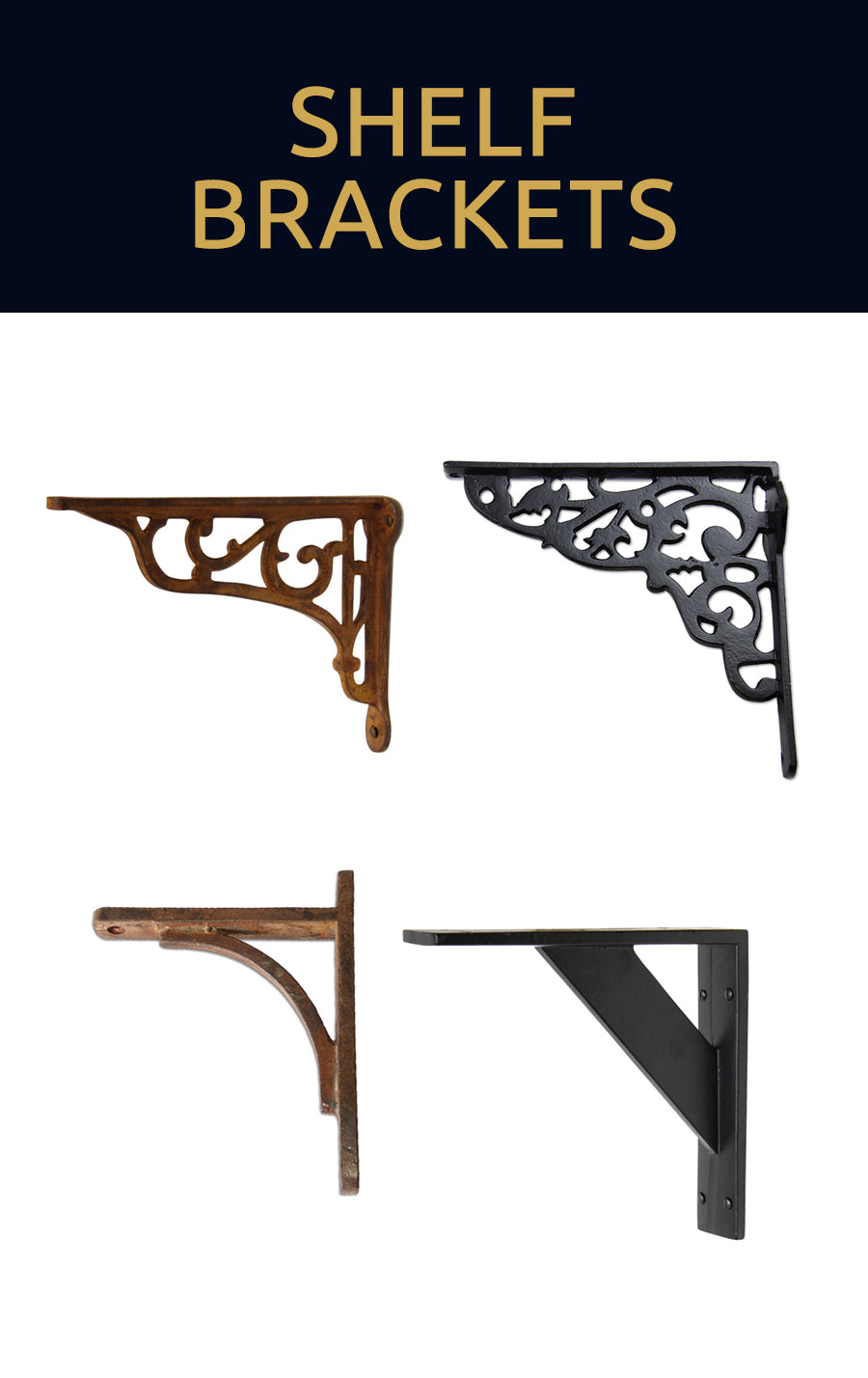 Browse our shelf brackets collection for wall shelving and shelf supports