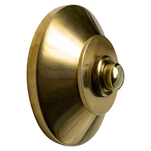 [ROUND Brass Door Bell Push] ROUND Brass Door Bell Push