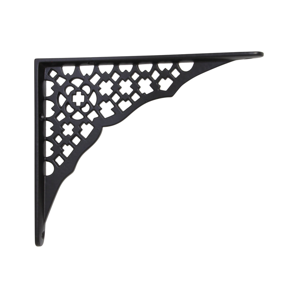 Lattice Lattice Bracket IR8013 Farmhouse Shelf Bracket, Black