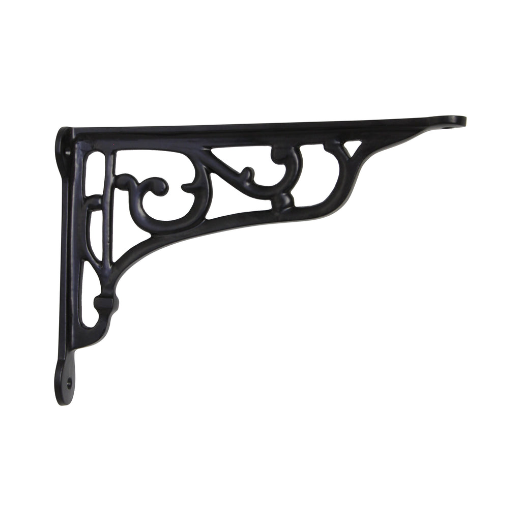 Vineyard Vineyard Bracket IR8203 Rustic Shelf Bracket, Black