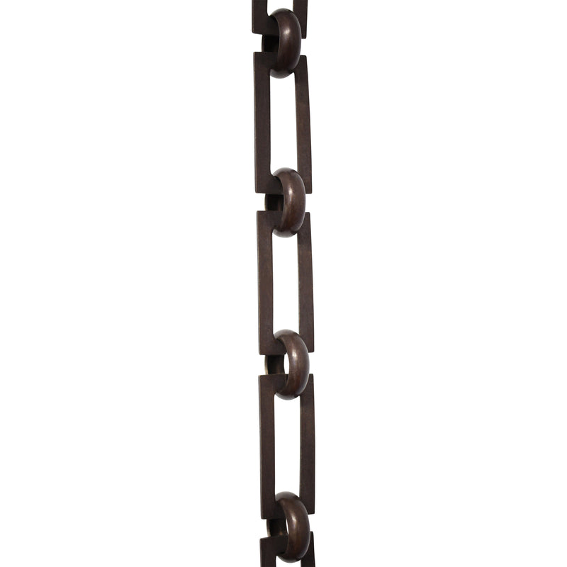 Chain BR01-U Rectangle Chandelier Chain with Unwelded Brass links and Round Joining links, Antique Brass