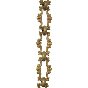Chain BR02-W Vintage Chandelier Chain with Welded Brass links and Round Joining links, Antique Brass