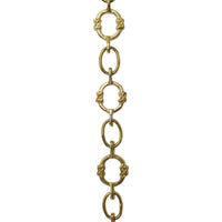Chain BR05-W Round Chandelier Chain with Welded Brass links and Oval Joining links, Antique Brass