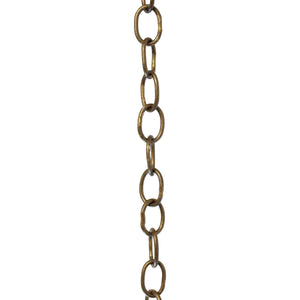 Chain BR06-W Loop Chandelier Chain with Welded Brass links, Antique Brass