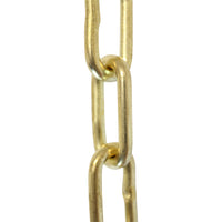 Chain BR07-W Standard Link, Coil Chandelier Chain with Welded Brass links, Bronze
