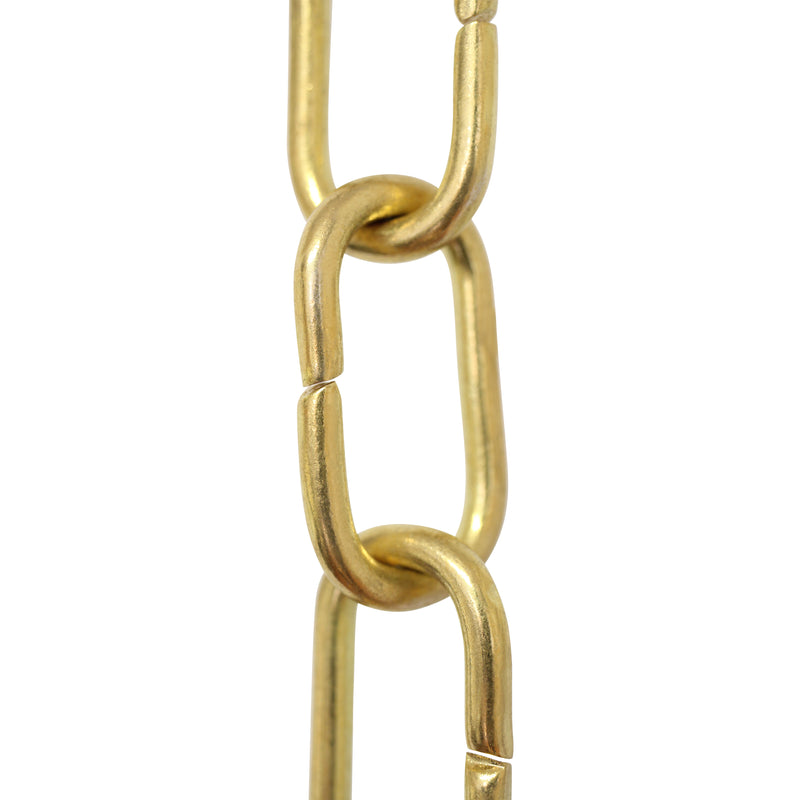 Chain BR08-U Standard Link, Coil Chandelier Chain with Unwelded Brass links, Antique Brass
