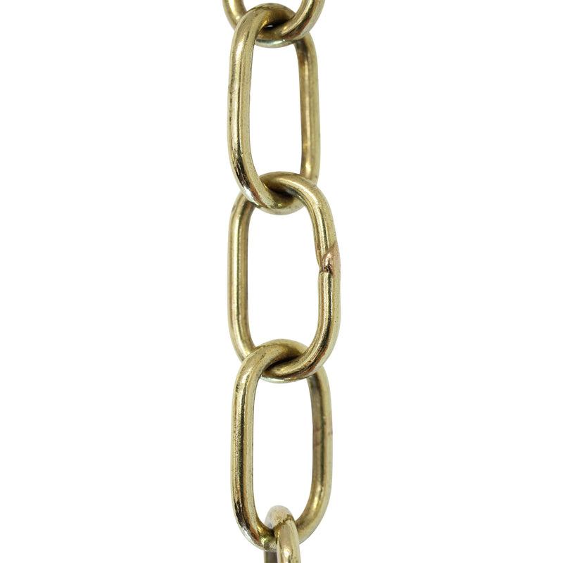 Chain BR08-W Standard Link, Coil Chandelier Chain with Welded Brass links, Antique Brass