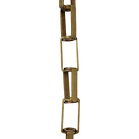 Chain BR09-W Rectangle Chandelier Chain with Welded Brass links, Antique Brass
