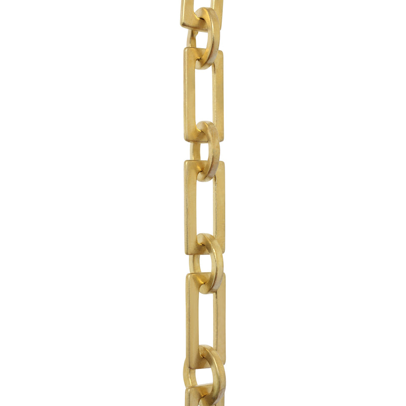 Chain BR11-W Rectangle Chandelier Chain with Welded Brass links and Round Joining links, Antique Brass