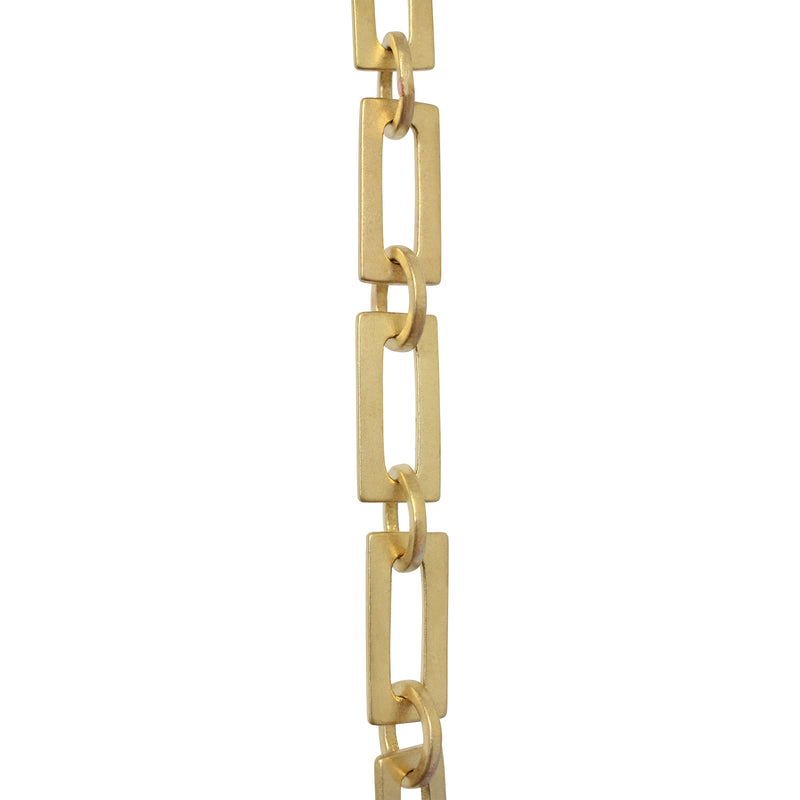Chain BR12-W Rectangle Chandelier Chain with Welded Brass links and Round Joining links, Antique Brass