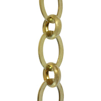 Chain BR14-U Loop Chandelier Chain with Unwelded Brass links and Round Joining links, Antique Brass