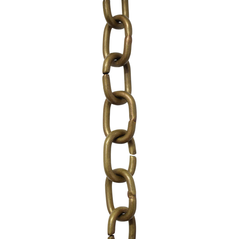 Chain BR16-U Round Chandelier Chain with Unwelded Brass links, Antique Brass