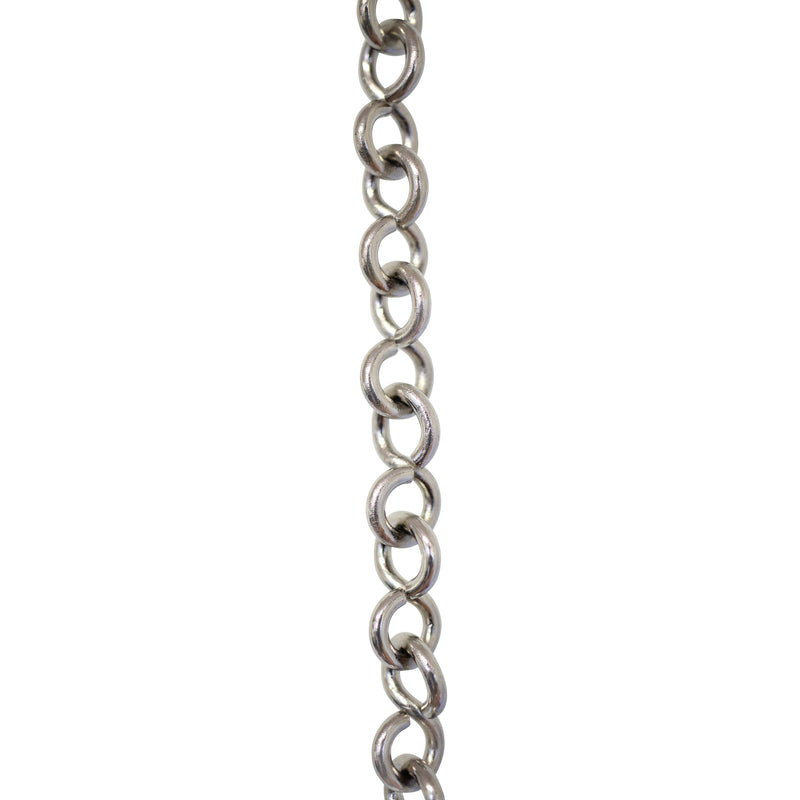 Chain BR20-U Loop, Lightweight Chandelier Chain with Unwelded Brass links, Antique Brass