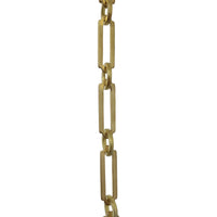 Chain BR21-W Rectangle Chandelier Chain with Welded Brass links and Round Joining links, Antique Brass