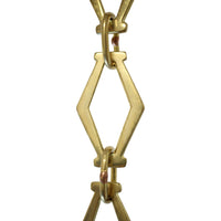 Chain BR22P-U Simple Vintage Chandelier Chain with Unwelded Brass links and Oval Joining links, Polished Brass