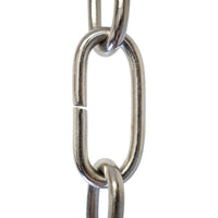 Chain BR23-U Standard Link, Coil Chandelier Chain with Rectangle Unwelded Brass links, Antique Brass