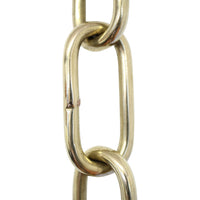 Chain BR23-W Standard Link, Coil Chandelier Chain with Rectangle Welded Brass links, Antique Brass