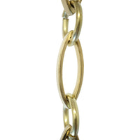 Chain BR26-U Loop Chandelier Chain with Oval Unwelded Brass links and Oval Joining links, Antique Brass
