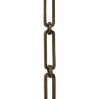 Chain BR28-H Rectangle, Hinge Chandelier Chain with Hinge Brass links and Round Joining links, Antique Brass