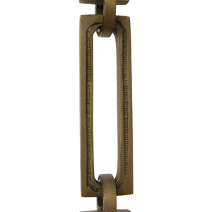 Chain BR29-H Rectangle, Hinge Chandelier Chain with Hinge Brass links and Round Joining links, Antique Brass