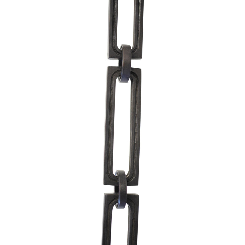 Chain BR29-H Rectangle, Hinge Chandelier Chain with Hinge Brass links and Round Joining links, Oil Bronzed Black