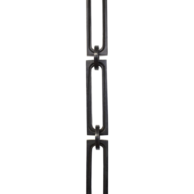 Chain BR29L-H Large Rectangle, Hinge Chandelier Chain with Rectangle Hinge Brass links and Round Joining links, Oil Bronzed Black