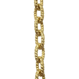 Chain BR30-U Loop, Hammered Chandelier Chain with Oval Unwelded Brass links, Antique Brass