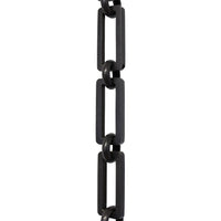 Chain BR31-H Rectangle, Hinge Chandelier Chain with Hinge Brass links and Round Joining links, Oil Bronzed Black