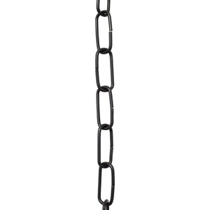 Chain BR33-U Standard Link, Coil Chandelier Chain with Rectangle Unwelded Brass links, Antique Brass