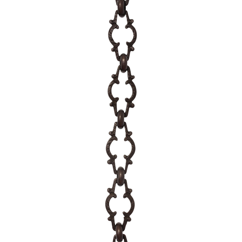Chain BR36-U Vintage Chandelier Chain with Unwelded Brass links and Round Joining links, Antique Brass