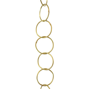Chain BR41-W Round Chandelier Chain with Circle Welded Brass links, Antique Brass
