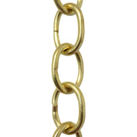 Chain BR42-W Small Loop Chandelier Chain with Oval Welded Brass links, Antique Brass