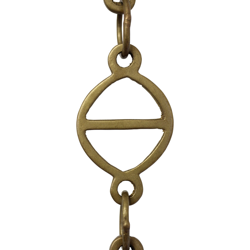 Chain BR45-W Designer Chandelier Chain with Welded Brass links and Oval Joining links, Antique Brass