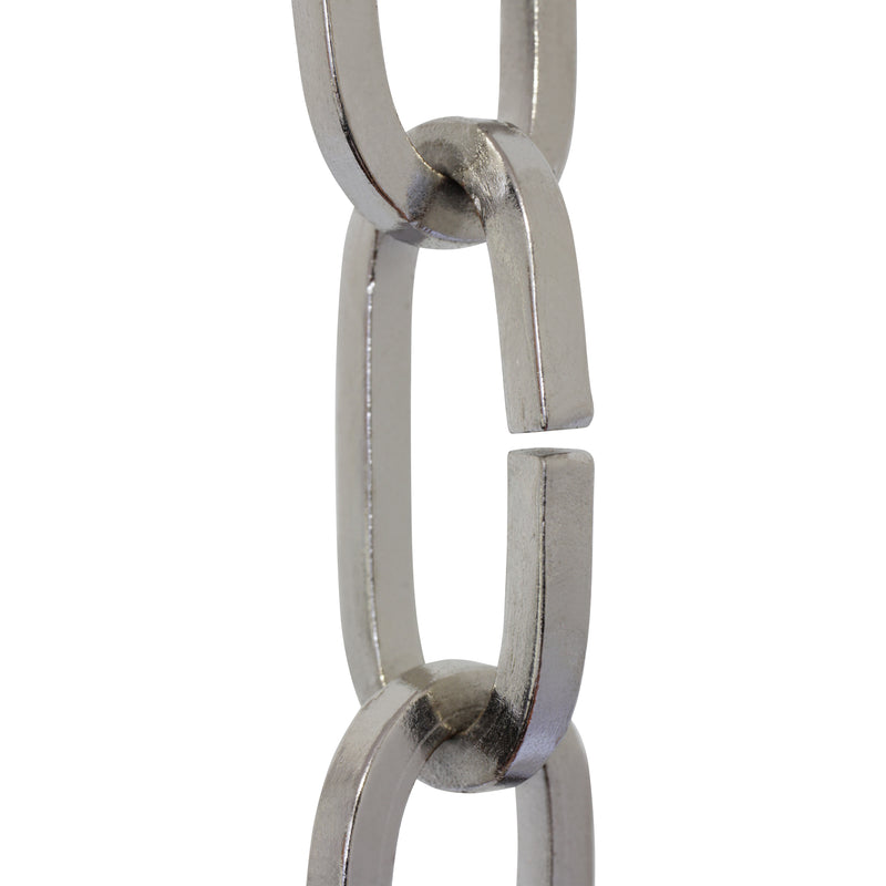 Chain IR49-U Standard Link, Coil Chandelier Chain with Rectangle Unwelded Iron links, Antique Brass