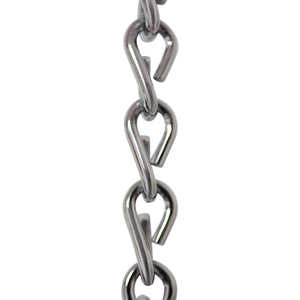 Chain ST51-U Double Jack Basket Chain with Unwelded Steel links, Antique Brass