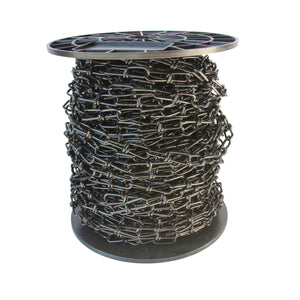 Chain ST52-U Lightweight, Double Loop Basket Chain with Unwelded Steel links, Black