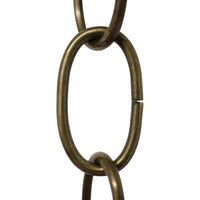 Chain ST560-U Standard Link, Side-Cut, Coil Chandelier Chain with Oval Unwelded Steel links, Antique Brass
