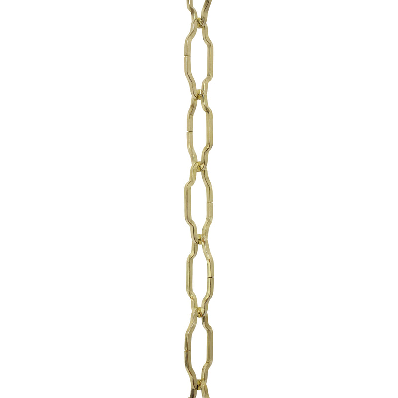Chain ST57-U Cathedral Chandelier Chain with Unwelded Steel links, Antique Brass