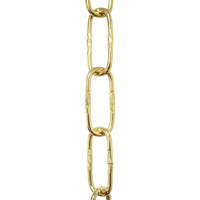 Chain ST58-U Spanish Chandelier Chain with Unwelded Steel links, Antique Brass