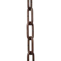 Chain ST59-U Standard Link, Coil Chandelier Chain with Oval Unwelded Steel links, Antique Copper
