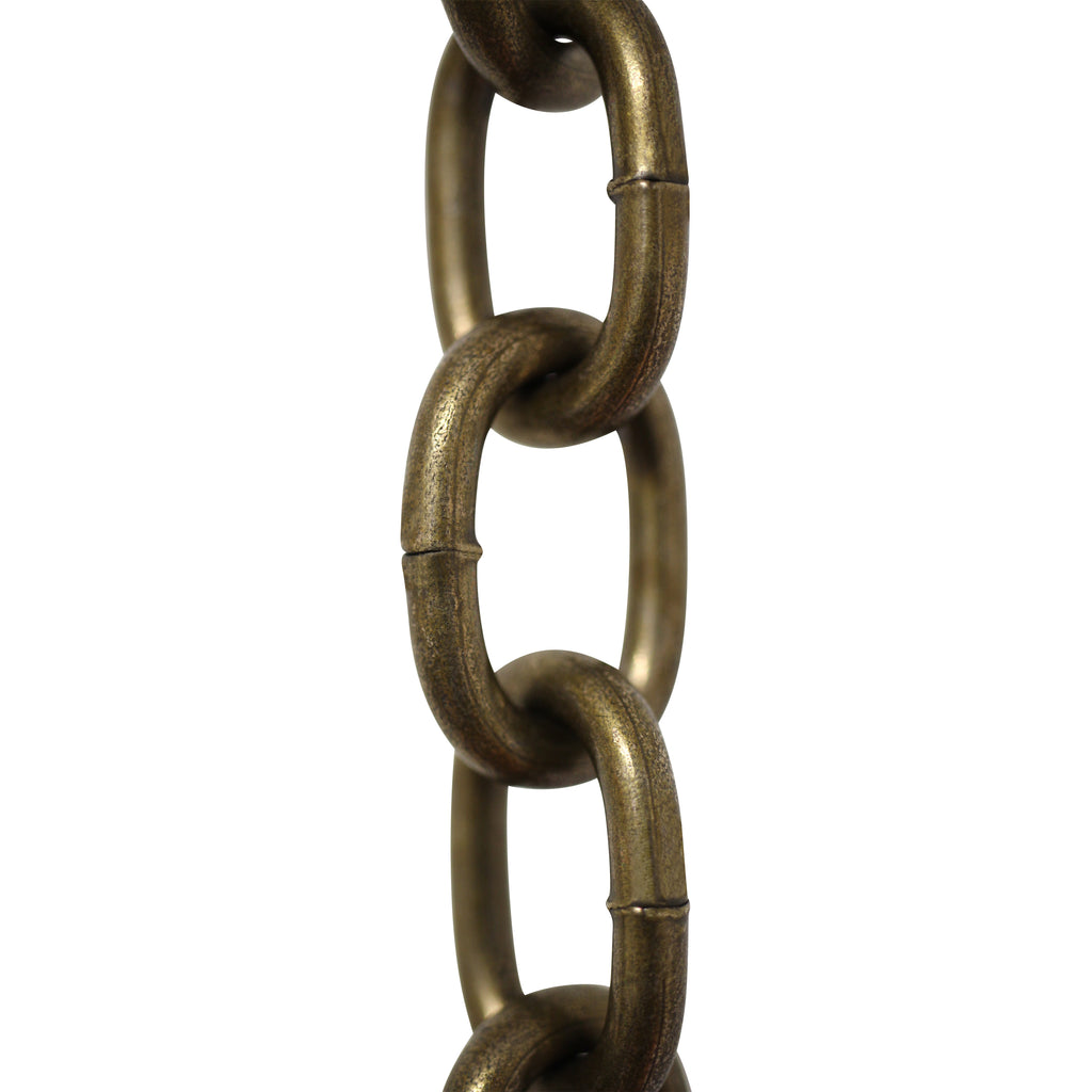 Chain ST60-W Standard Link Chandelier Chain with Oval Welded Steel links, Antique Brass