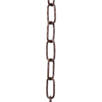 Chain ST61-U Standard Link, Coil Chandelier Chain with Oval Unwelded Steel links, Antique Copper