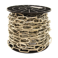 Chain ST62-U Standard Link, Coil Chandelier Chain with Oval Unwelded Steel links, Antique Brass