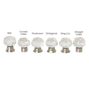 Crystal Cabinet Knob CYDC-40CLR, Antique Brass