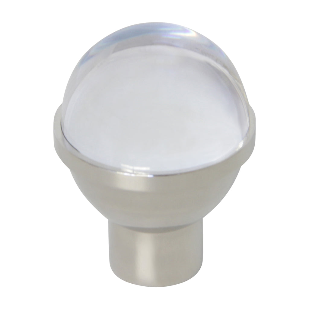 Crystal Cabinet Knob CYHD-25CLR, Antique Brass