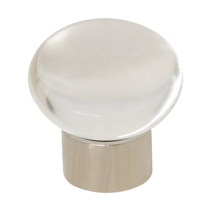 Crystal Cabinet Knob CYMR-36CLR, Antique Brass