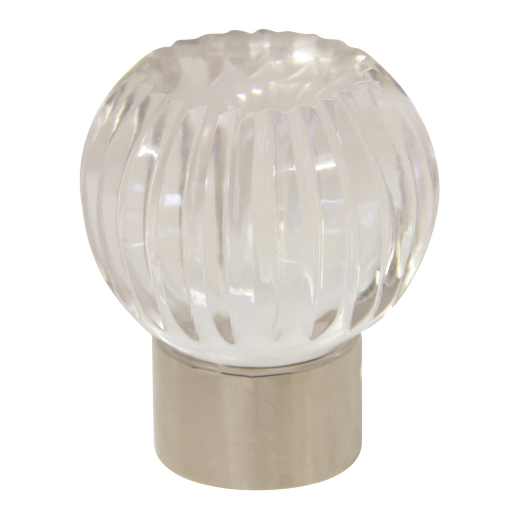 Glass Cabinet Knob GLTUP-35CLR, Antique Brass
