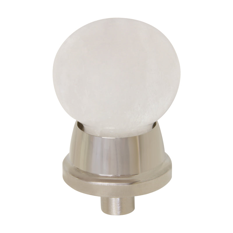 Rock Crystal Cabinet Knob RCMR-25NQ, Antique Brass