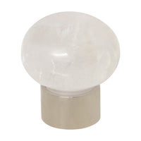 Rock Crystal Cabinet Knob RCMR-36NQ, Antique Brass